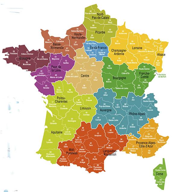 Frankreich Departements Karte.Frankreich Tourismus