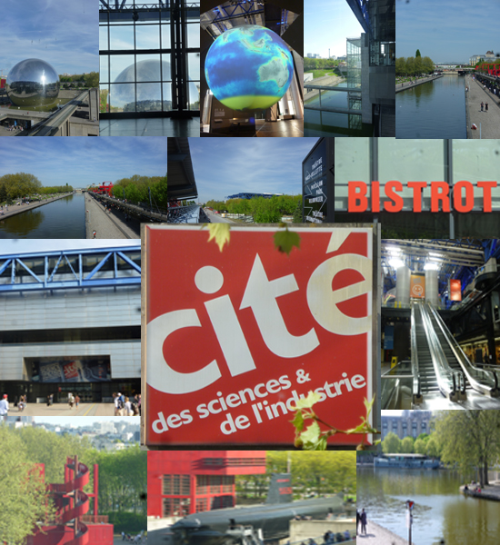 Die cit des sciences in paris im parc de la villette - Porte de la villette cite des sciences ...